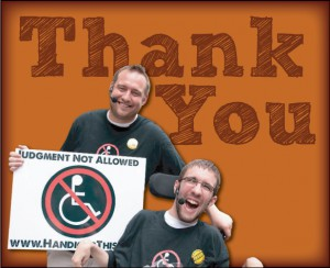 Thank You - Image of Tim Wambach and Mike Berkson
