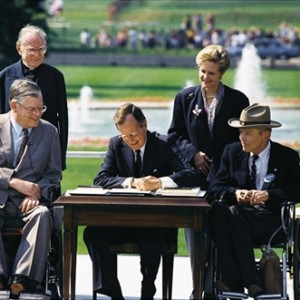 President George H.W. Bush signs ADA