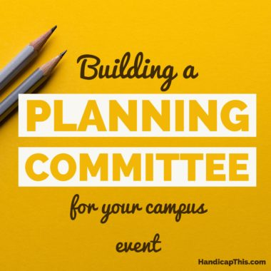 Building a Planning Committee for Your Campus Event